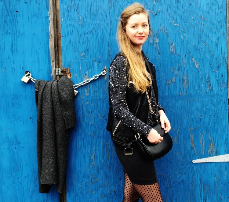 perfecto noir et mini jupe
