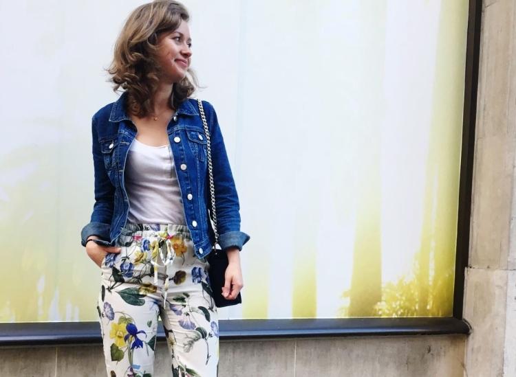 pantalon a fleurs zara
